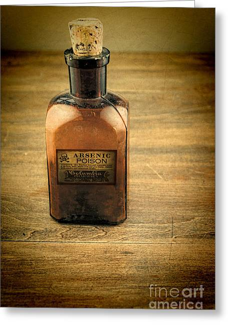 Tincture Greeting Cards - Old Bottle of Arsenic Greeting Card by Jill Battaglia