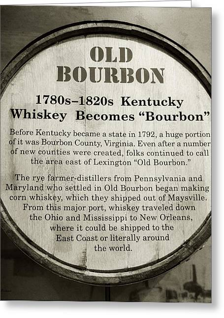 Liquor Greeting Cards - Old Bourbon Greeting Card by Mel Steinhauer