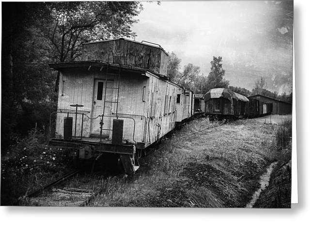 Boxcars Greeting Cards - Old Caboose Greeting Card by Jeff Klingler
