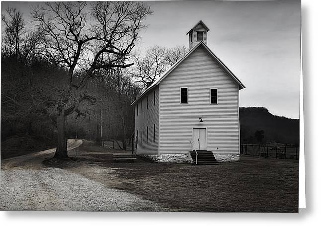 Boxley Valley Greeting Cards - Old Boxley Valley Church Greeting Card by Tony  Colvin
