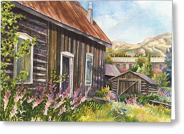 Old Cabins Greeting Cards - Old Breckenridge Greeting Card by Anne Gifford