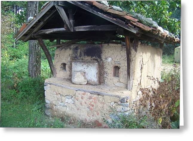 18th Century Greeting Cards - Old Brick Oven 18th Century Greeting Card by Rumyana Whitcher