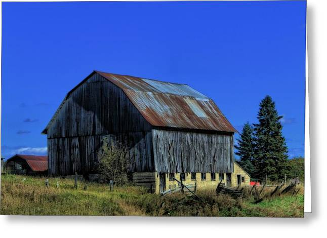 Old Broken Down Barn In Ohio Greeting Card by Dan Sproul