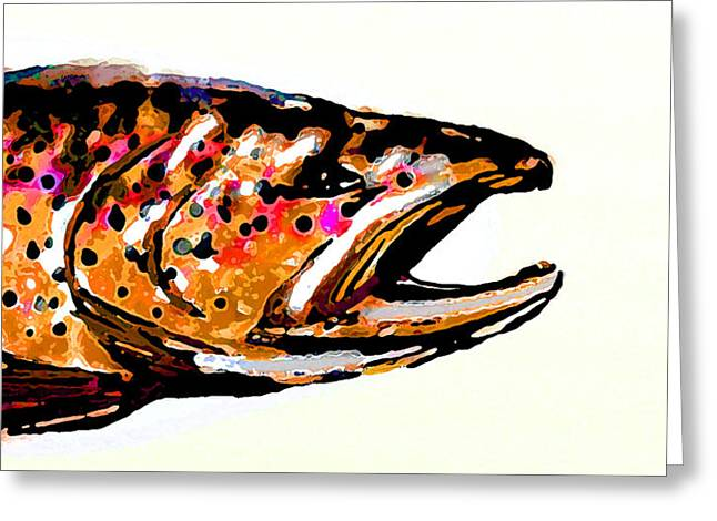 Brown Trout Digital Art Greeting Cards - Old Brown Trout Greeting Card by Owl Jones