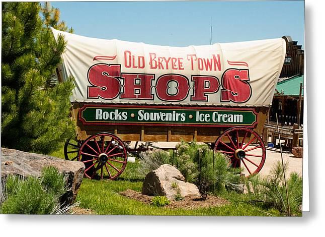 Geobob Greeting Cards - Old Bryce Town Conestoga Wagon Utah Greeting Card by Robert Ford