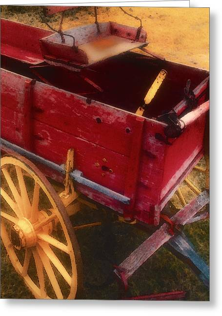 Wooden Wagons Greeting Cards - Old Buck Greeting Card by Stephen Anderson