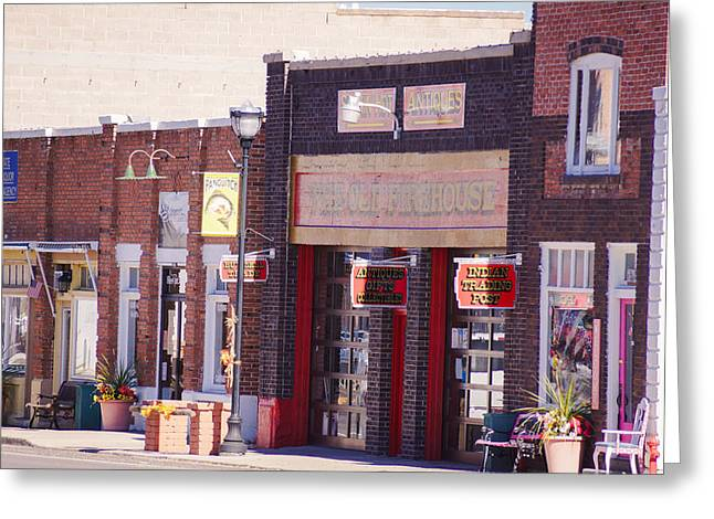 Garfield County Greeting Cards - Old Buildings in Panguitch Greeting Card by Gloria Pasko