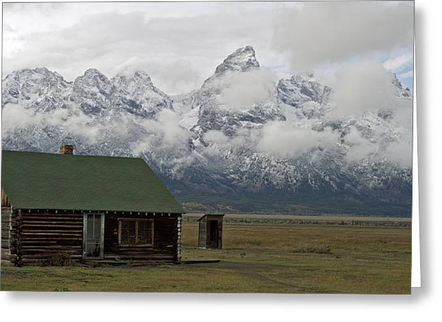 Old Cabins Greeting Cards - Old Cabin in  Grand Tetons Greeting Card by Gary Langley