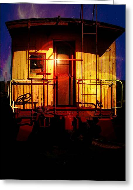 Caboose Greeting Cards - Old Caboose  Greeting Card by Aaron Berg