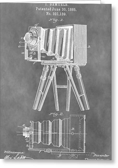 First-class Digital Art Greeting Cards - Old Camera Patent Greeting Card by Dan Sproul