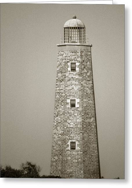 Photos Of Ocean Greeting Cards - Old Cape Henry Lighthouse Greeting Card by Skip Willits
