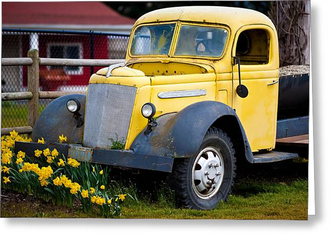 Sauvie Island Greeting Cards - Old Car 3 Greeting Card by Niels Nielsen