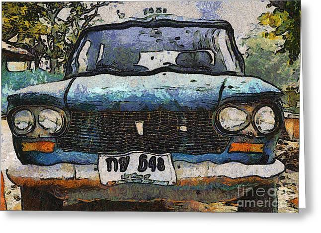 Personal Land Vehicle Greeting Cards - Old car Greeting Card by Athiwat Poolsawad
