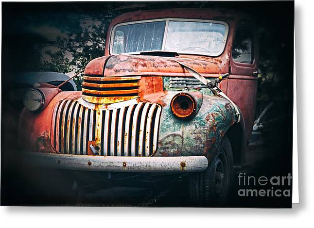 Old Trucks Greeting Cards - Old Car Greeting Card by Charline Xia