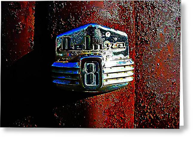 Junkyard Pyrography Greeting Cards - Old Car City Deluxe 8 Greeting Card by Richard Erickson