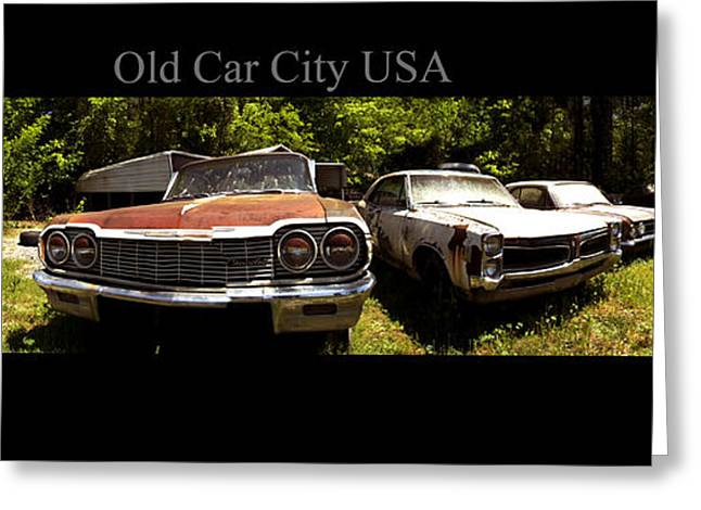 Rusted Cars Greeting Cards - Old Car City USA Lot 1 Greeting Card by Richard Erickson