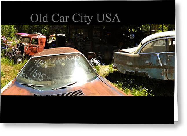Rusted Cars Greeting Cards - Old Car City USA Lot 2 Greeting Card by Richard Erickson