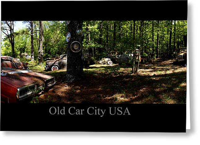 Rusted Cars Greeting Cards - Old Car City USA Rear Lot Greeting Card by Richard Erickson