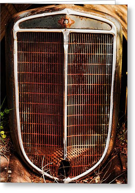 Ron Roberts Photography Greeting Cards - Old Car Grill Greeting Card by Ron Roberts