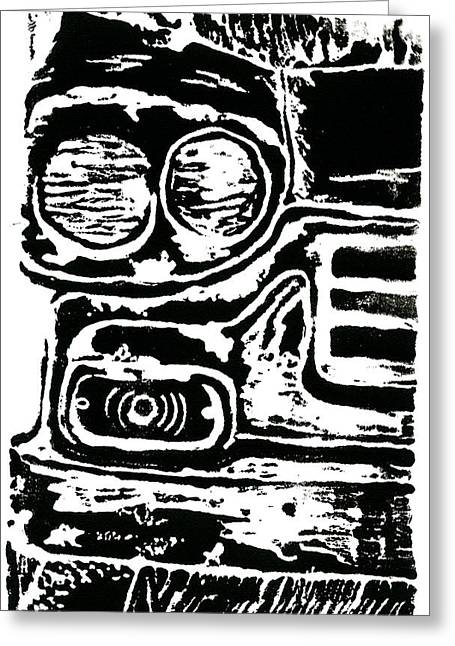 Jame Hayes Drawings Greeting Cards - Old Car Greeting Card by Jame Hayes
