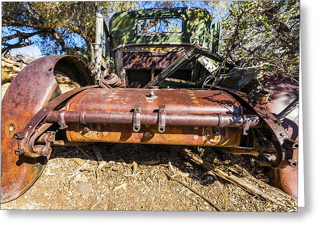 Rusted Cars Greeting Cards - Old Car Greeting Card by Joseph S Giacalone
