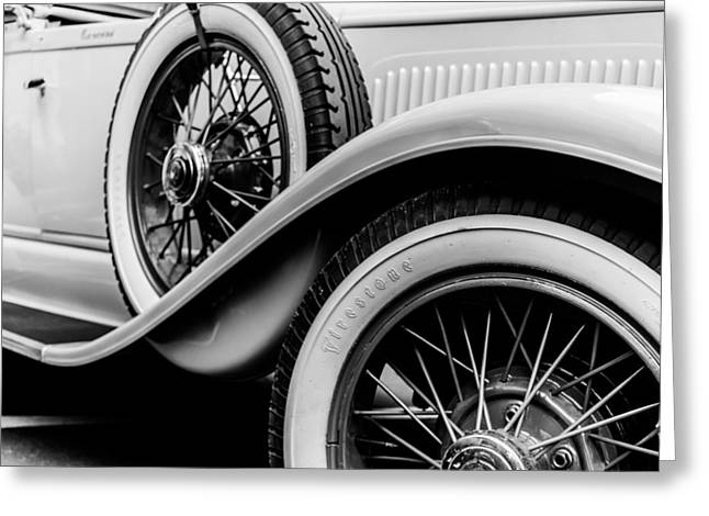 Old Car Greeting Card by Mauro Marzo