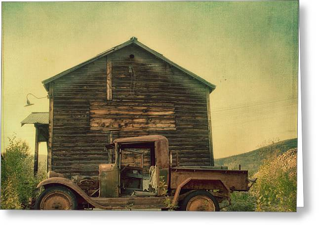 Forgotten Cars Greeting Cards - Abandoned Greeting Card by Priska Wettstein