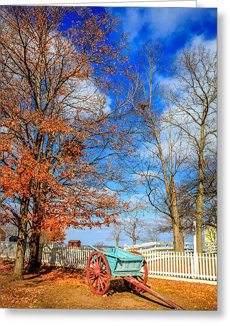 Old Wooden Fence Greeting Cards - Old cart Greeting Card by Alexey Stiop