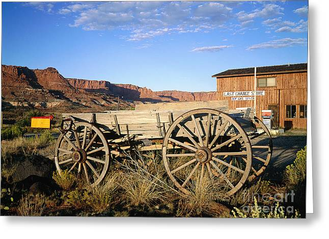 U.s. Capitol Greeting Cards - Old Cart At The Capitol Reef National Greeting Card by Adam Sylvester
