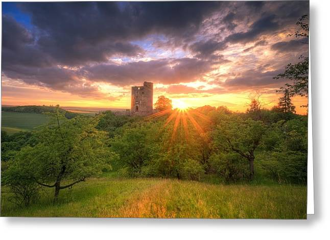 Himmel Greeting Cards - Old Castel Greeting Card by Steffen Gierok