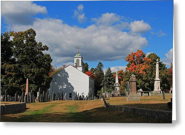Central Ma Greeting Cards - Old Cemetery Harvard MA Greeting Card by Michael Saunders