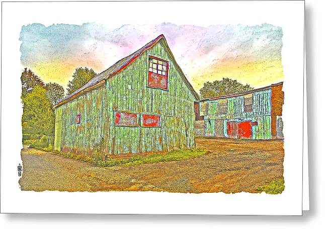 Shed Digital Greeting Cards - Old Chateauguay Greeting Card by Roger Winkler