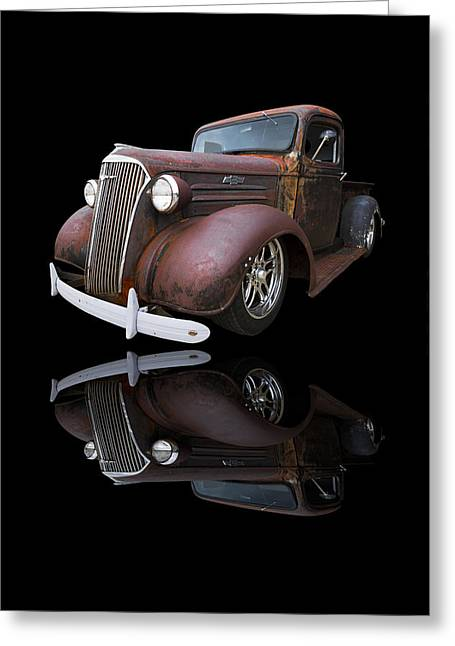 Rusted Cars Greeting Cards - Old Chevy Greeting Card by Debra and Dave Vanderlaan