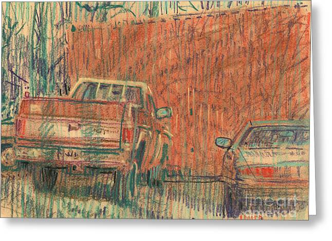 Chevy Truck Greeting Cards - Old Chevy Greeting Card by Donald Maier