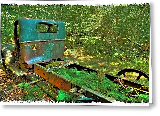 Old Trucks Greeting Cards - Old Chevy Maple Leaf Truck Greeting Card by David Patterson