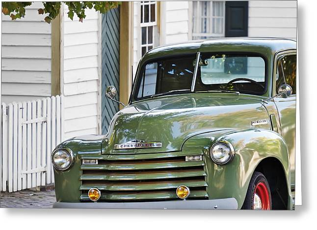 Chevrolet Pickup Truck Greeting Cards - Old Chevy Truck C Greeting Card by Patrick M Lynch
