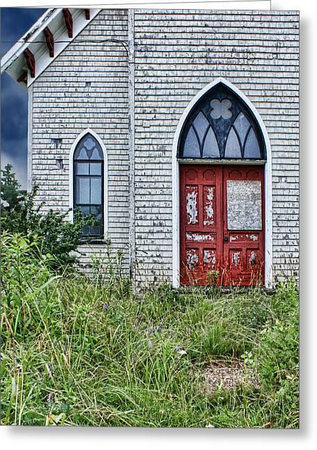 Run Down Greeting Cards - Old Church #1 Greeting Card by Nikolyn McDonald