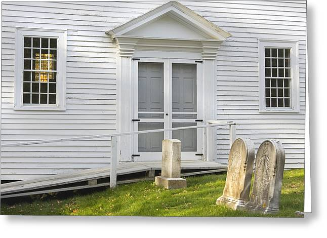 Traditional Doors Greeting Cards - Old Church And Graveyard Greeting Card by Keith Webber Jr
