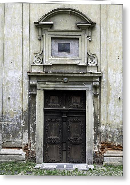 Medieval Temple Greeting Cards - Old church door. Greeting Card by Fernando Barozza