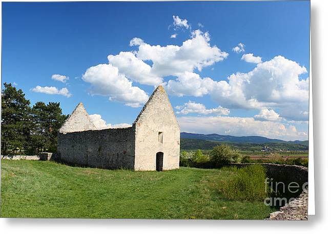 Old Western Photos Greeting Cards - Old Church Haluzice Slovakia Greeting Card by Ludek Sagi Lukac