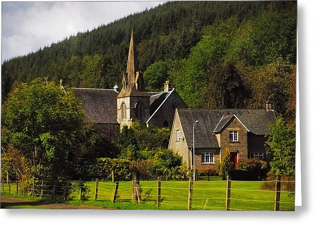 Highlands Of Scotland Greeting Cards - Old Church. Scotland Greeting Card by Jenny Rainbow