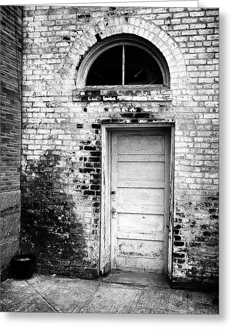 Old Door Greeting Cards - Old City Doorway Greeting Card by Patrick M Lynch