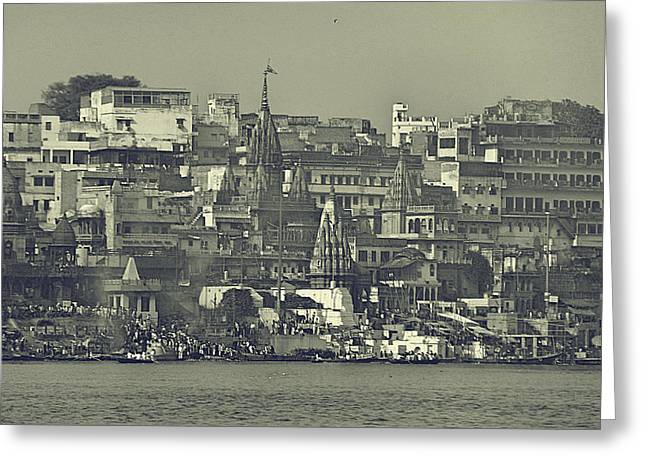 Old Wall Pyrography Greeting Cards - Old City Greeting Card by Girish J