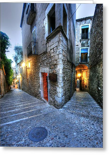 Southern Province Greeting Cards - Old city Girona Greeting Card by Isaac Silman