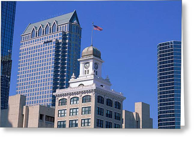Old City Tower Greeting Cards - Old City Hall Cityscape Tampa Fl Greeting Card by Panoramic Images