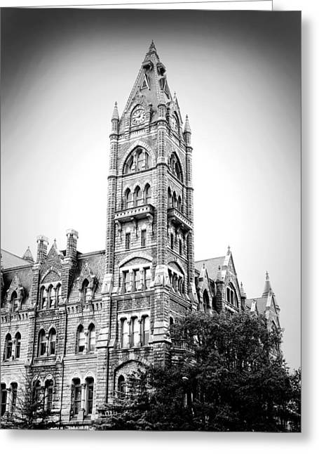 Old City Tower Greeting Cards - Old City Hall - Richmond Virginia Greeting Card by Brendan Reals