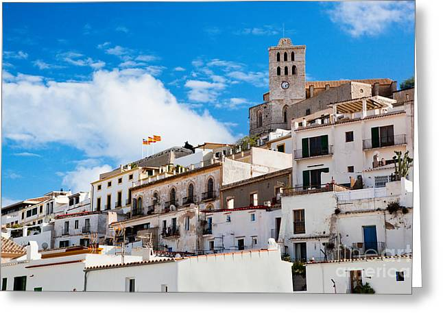 Ibiza Greeting Cards - Old city of Ibiza Spain Greeting Card by Michal Bednarek