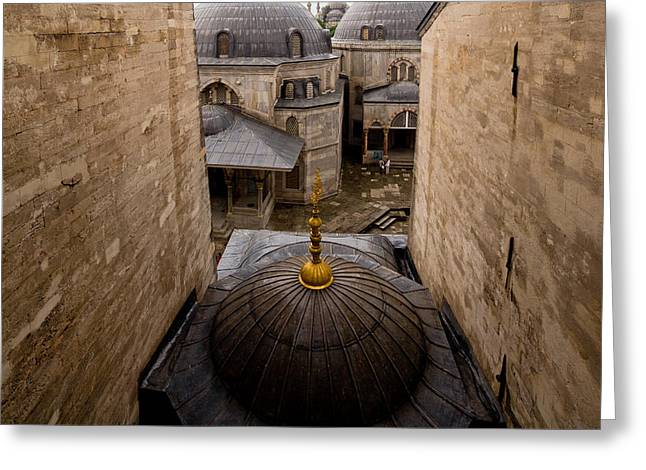 Cupola Greeting Cards - Old City of Istanbul Greeting Card by Artur Bogacki