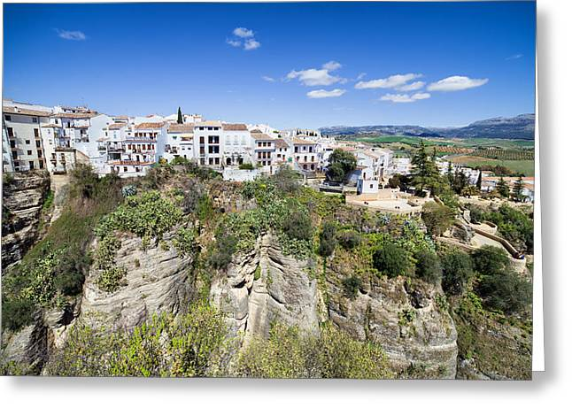 Pueblo Blanco Greeting Cards - Old City of Ronda in Spain Greeting Card by Artur Bogacki