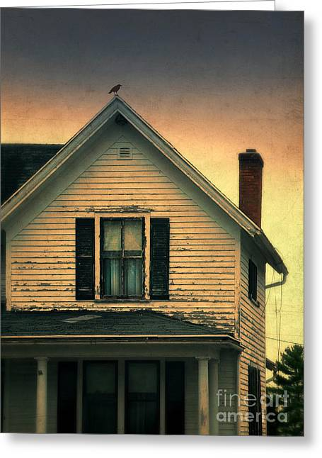 Clapboard House Greeting Cards - Old Clapboard House Greeting Card by Jill Battaglia